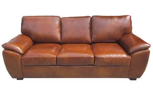 Repaired Leather Sofa